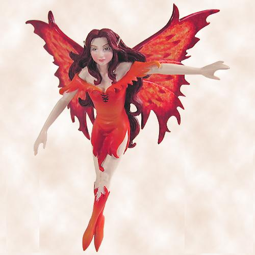 Elements Fairy Diva Ornament - Fire