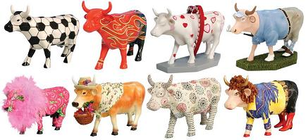 Cow Parade, Winter 2008 Herd