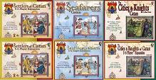 Settlers of Catan with Seafarers, Cities and Knights and Expansion Sets