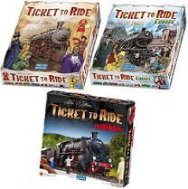 Ticket to Ride Three Game Combo
