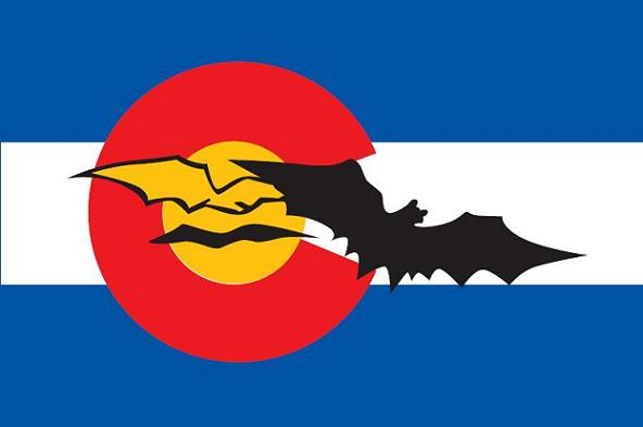 Colorado Caver Decal with Large Bat