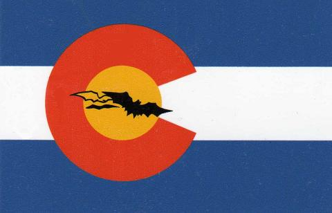 Colorado Caver Decal with Small Bat