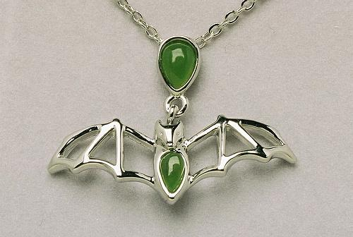 Jade Cavern Bat Necklace