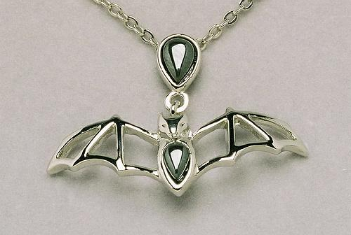 Hematite Cavern Bat Necklace