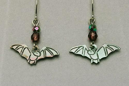 Wild Pearle Cavern Bat Earrings