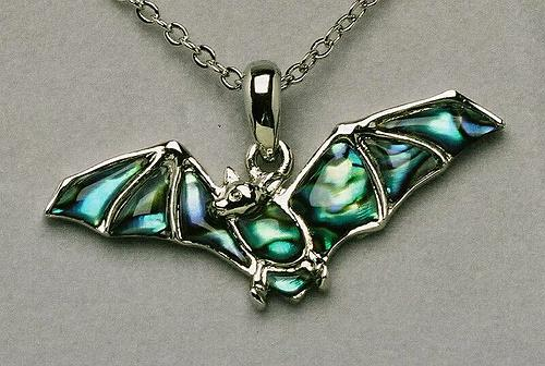 Wild Pearle Flying Bat Necklace