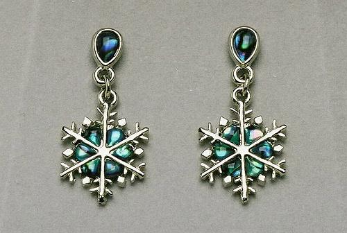 Wild Pearle Snowflake Earrings