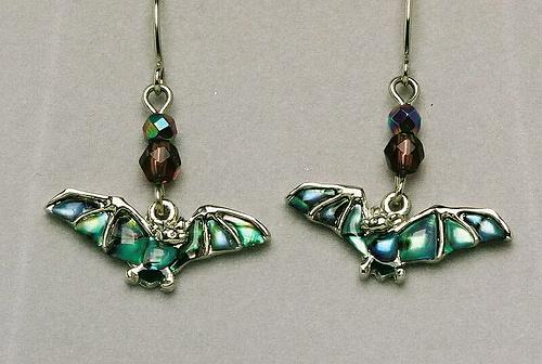 Wild Pearle Flying Bat Earrings