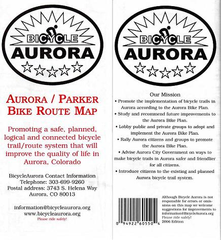 Aurora/Parker Bike Route Map