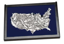 Elegant Cast USA Map Puzzle