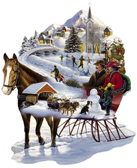 Winter Wonderland Sleigh Shaped Jigsaw
