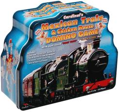 Mexican Train and Chicken House Dominoes Game Tin