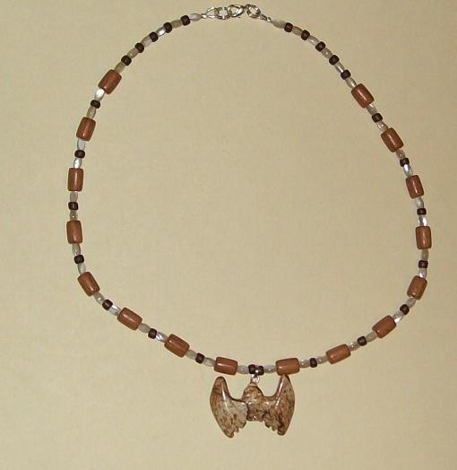 Bat in Wood Necklace