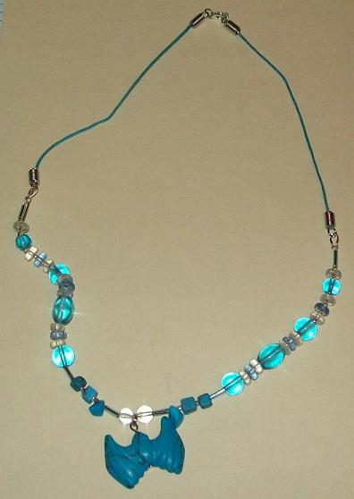 Turquoise Bat Necklace