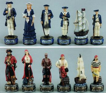Pirates and Navy Chess Set