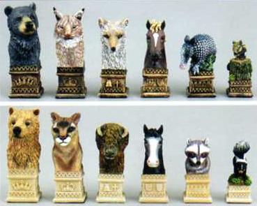 American Wildlife Animal Chess Set