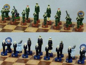 Army and Navy Chess Set