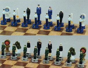 Air Force and Marine Chess Set