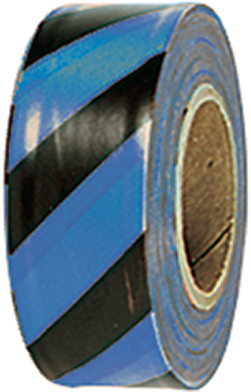 Stripe Vinyl Flagging -- Blue on Black