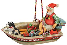 Boating Santa Ornament