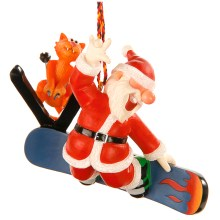 Board Rider Santa Ornament