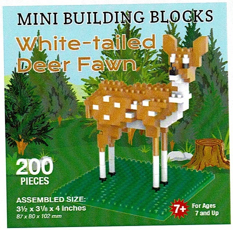 White-tailed Deer Fawn Mini Building Blocks