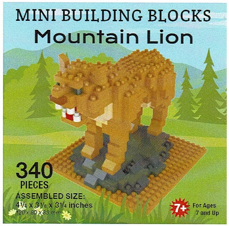 Mountain Lion Mini Building Blocks