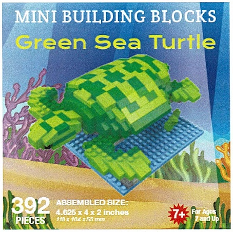 Green Sea Turtle Mini Building Blocks