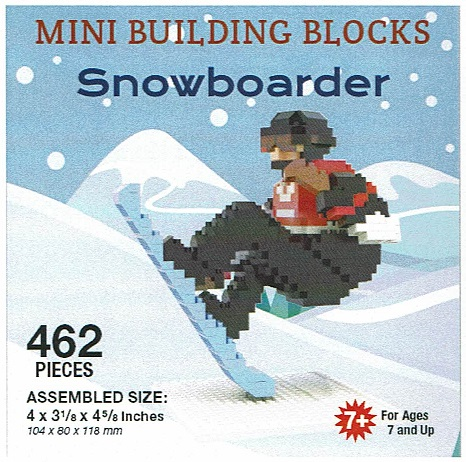 Snowboarder Mini Building Blocks