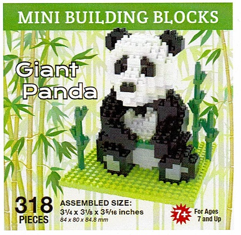 Giant Panda Mini Building Blocks