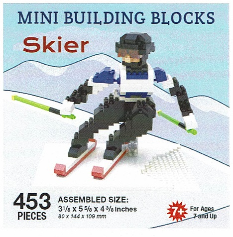 Skier Mini Building Blocks