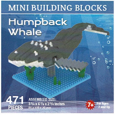 Humpback Whale Mini Building Blocks