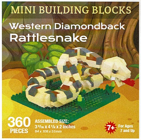 Western Diamondback Rattlesnake Mini Building Blocks