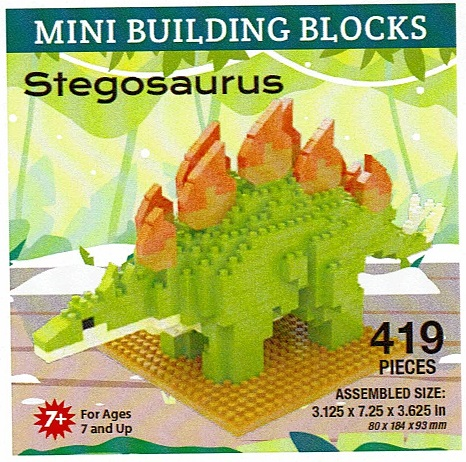 Stegosaurus Mini Building Blocks