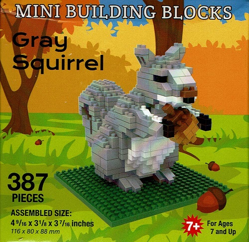 Gray Squirrel Mini Building Blocks