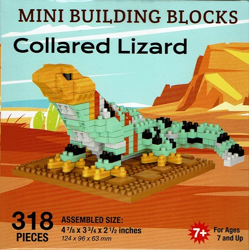 Collared Lizard Mini Building Blocks