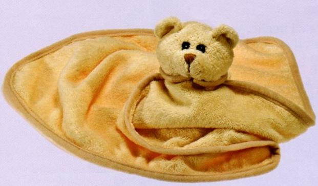 Cream Bear Baby Wrap 'N' Nap