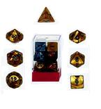 Ten Assorted Olympic Pearlized Polyhedral Dice in a Box