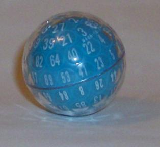 Blue 100 sided Die