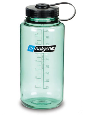 Wide Mouth 32 oz Nalgene Bottle, Sage Green