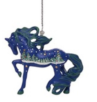 White Christmas Pony Ornament