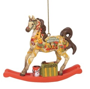 Santa's Workshop Pony Ornament