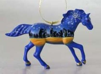 Gold, Frankincense and Myrrh Pony Ornament in a Holiday Tin