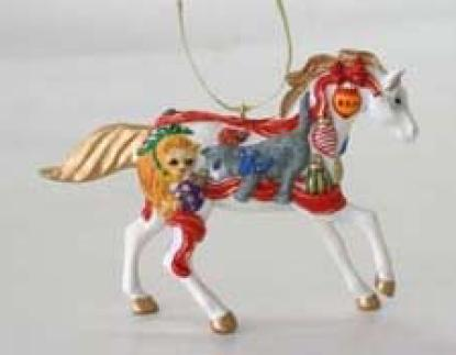 Christmas Kittens Pony Ornament in a Holiday Tin
