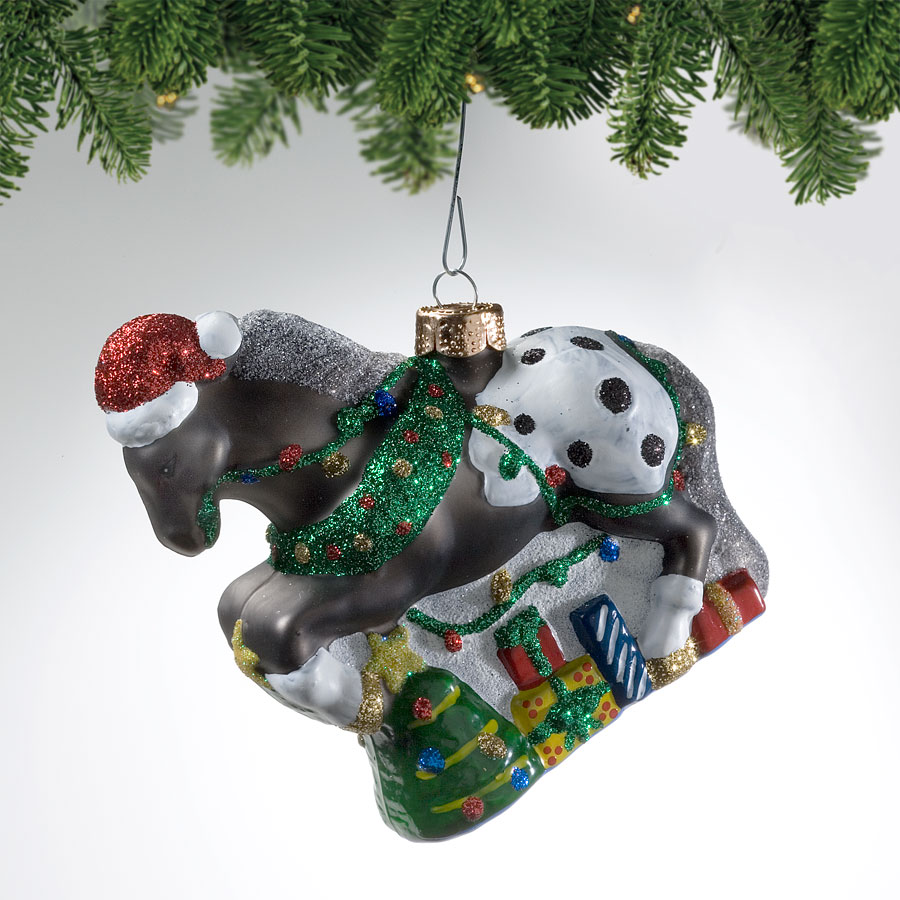 Appy Holidays Blown Glass Ornament