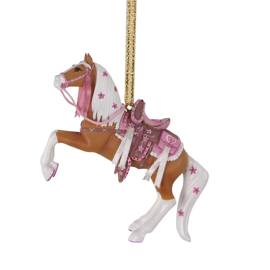 Cowgirl Cadillac Ornament in a Holiday Tin
