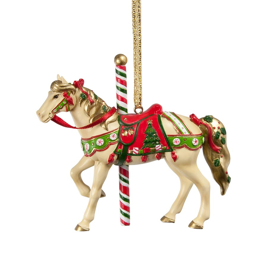 Christmas Carousel Ornament in a Holiday Tin