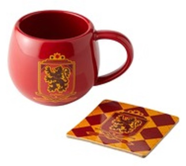 Gryffindor Crest Mug and Coaster Set