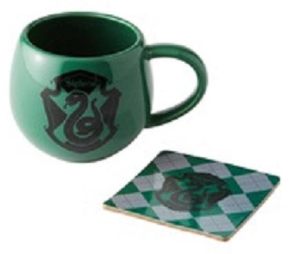 Slytherin Crest Mug and Coaster Set