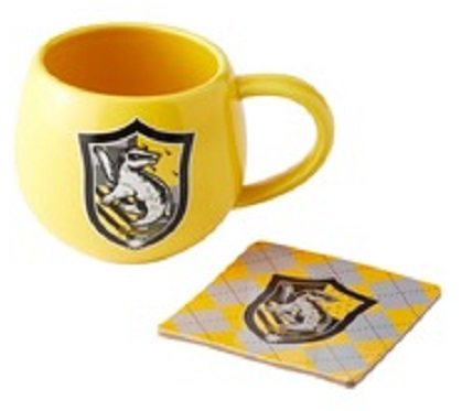 Hufflepuff Crest Mug and Coaster Set
